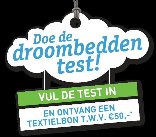 Doe de droombedden test en ontvang  een waardebon van 50 euro